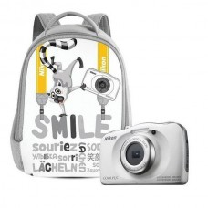 Nikon Coolpix W100 White Backpack kit + Δώρο Κάρτα Μνήμης
